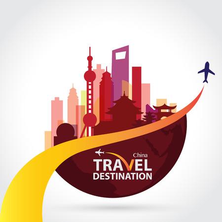 中国のベクトル  イラスト・ベクター素材
