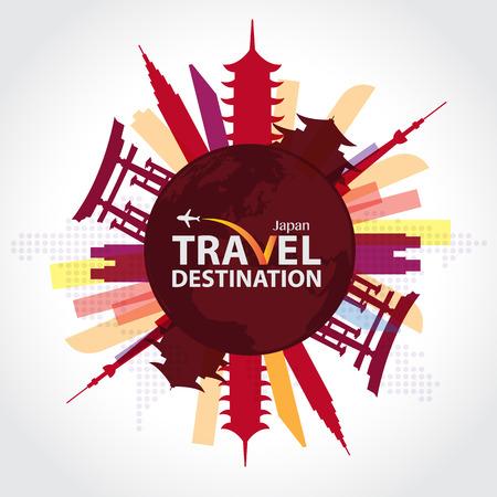 Reizen Japan Vector Illustratie