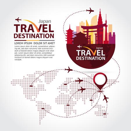 travel: Japan cestování Ilustrace