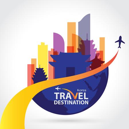 turismo: corea del vector Vectores