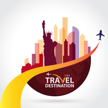 travel destination: New York vector Illustration