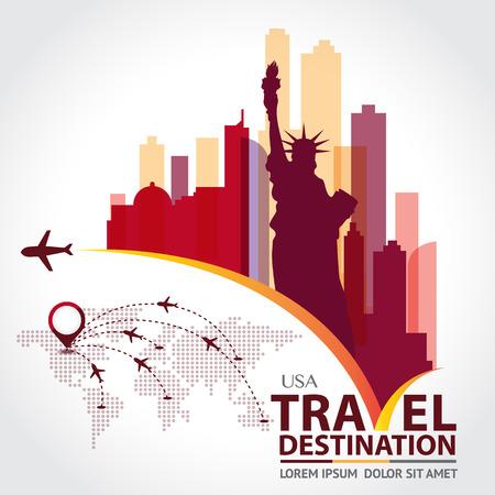 skyline city: New York vector Illustration