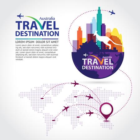 travel background: Australia vector Illustration