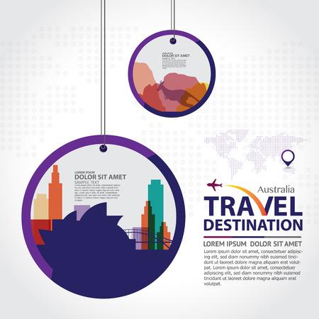 corporate buildings: Australia vector Illustration