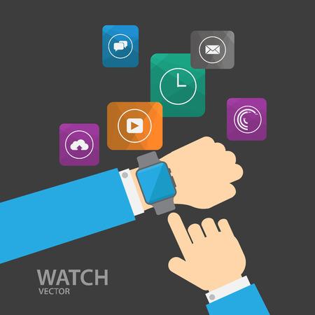 telephone call: Smart watch Illustration