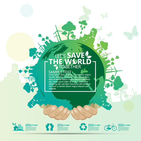 recycle symbol vector: save the world Illustration
