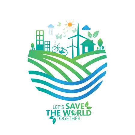Sauver le monde. Banque d'images - 44093252