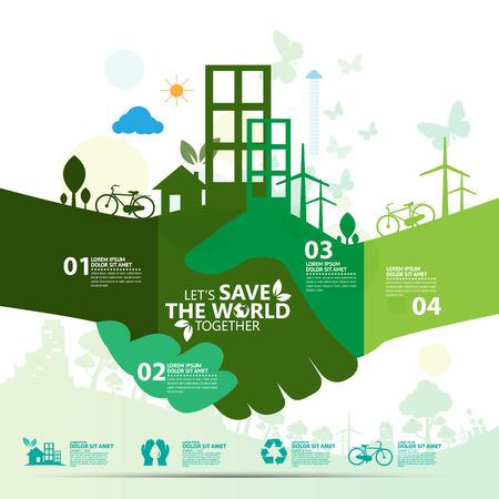 sauver le monde. Vecteurs
