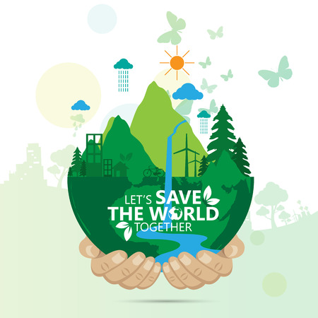 save the world Stock Illustratie