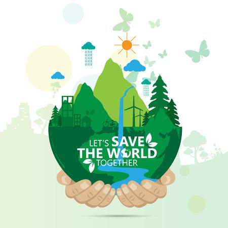 save the world Vettoriali