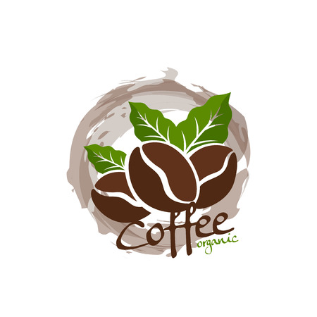 grün: Kaffeebohnen Illustration