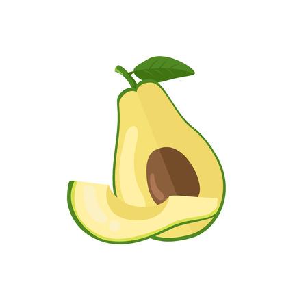 half: avocado vector illustration