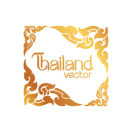 stil: Thai Kunst Hintergrund Vektor- Illustration