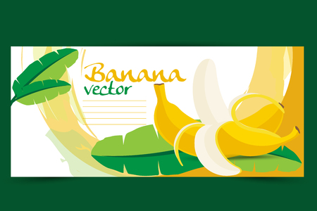 label design: Banana illustration