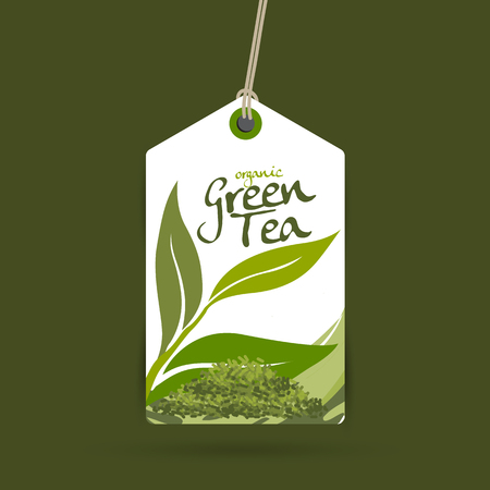 blend: green tea vector Illustration