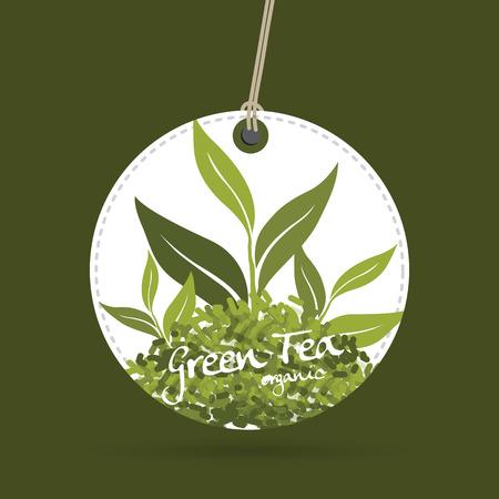 rich flavor: green tea vector Illustration