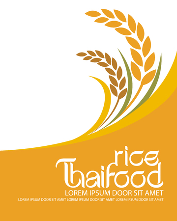 plant design: rice vector Illustration
