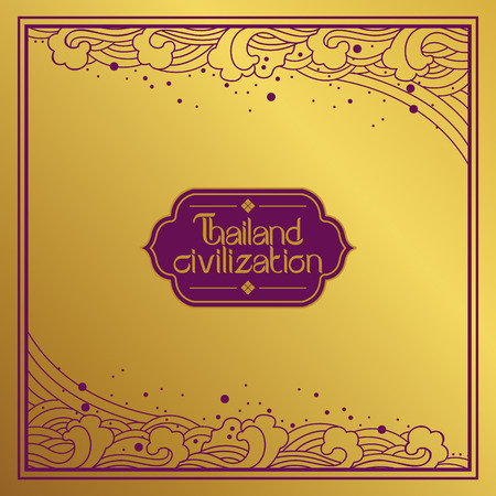 thai art: Thai Art Background vector