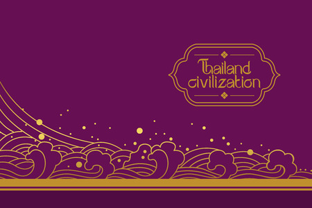 thai style: Thai Art Background vector