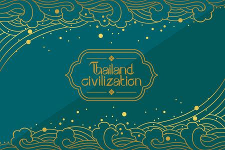 decoration design: Thai Art Background vector