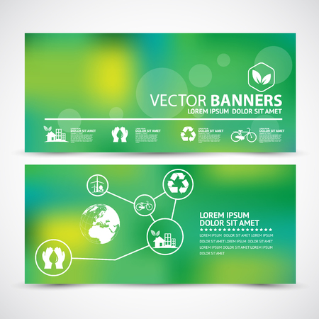 background green: Vector illustration of Environment