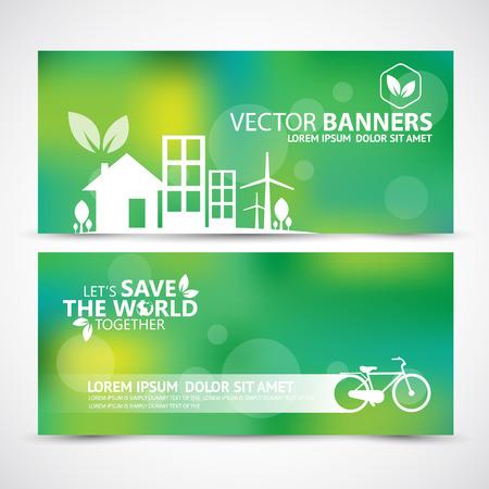 green eco: Vector illustration of Environment