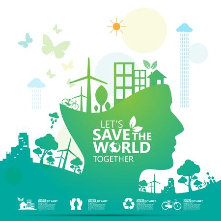 environment infographic Illustration
