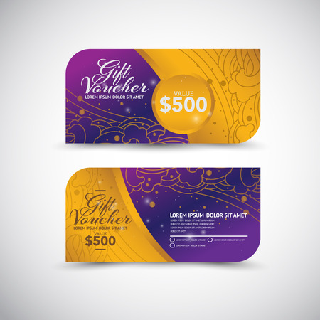 vector art: Gift Voucher template Illustration