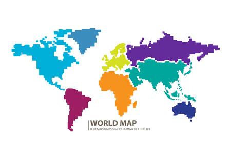 oceania: World map