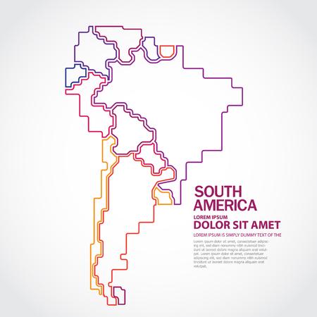 Zuid-Amerika kaart