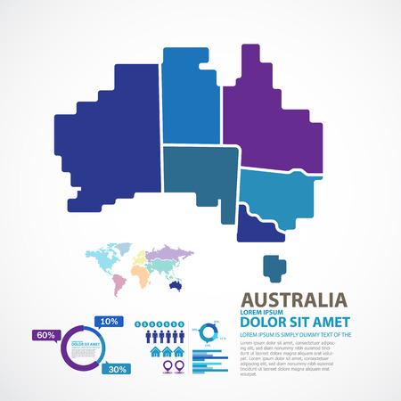adelaide: Australia Map Illustration