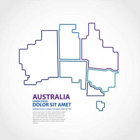 wales: Australia Map Illustration