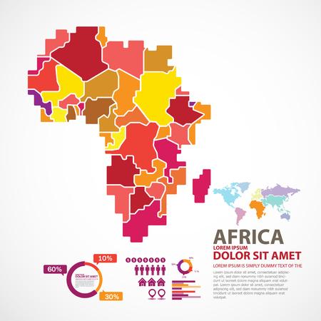 illustrated globes: africa map Illustration