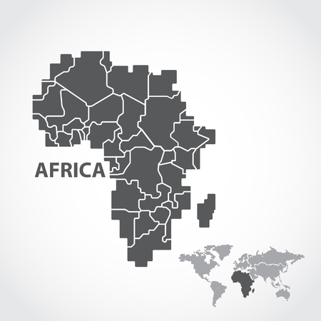 ethiopia abstract: africa map Illustration