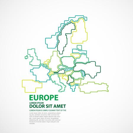 ヨーロッパの地図  イラスト・ベクター素材
