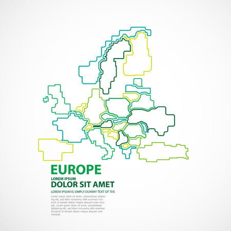 EUROPE MAP Illusztráció
