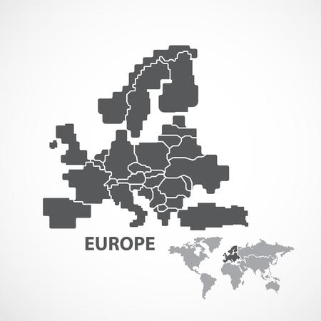 EUROPA MAP Stock Illustratie