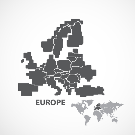 EUROPA MAPA Foto de archivo - 46959733