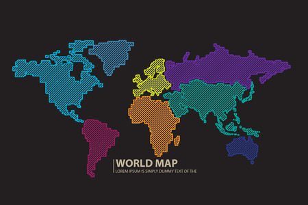 pacific: World map