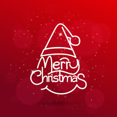 seasons greeting card: Christmas vector background