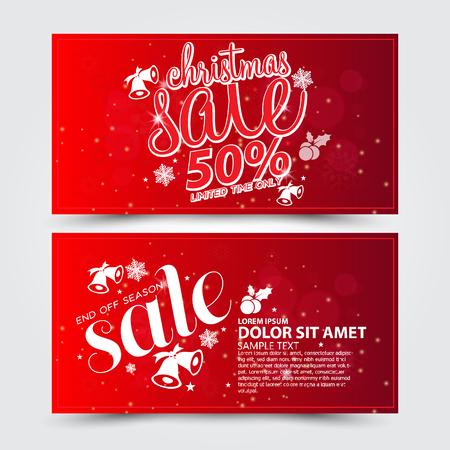 christmas sale: Christmas sale design template