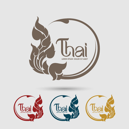 Thai Art vector Vettoriali