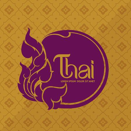 Thai Art vector Illustration