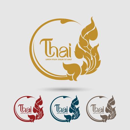 logo de comida: Tailandesa Arte vector Vectores