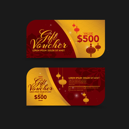 Chinese new year gift voucher design template royalty free chinese new year gift voucher design template vector yelopaper Gallery