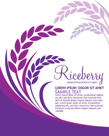 oats: Rice berry Vector
