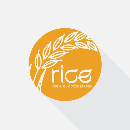 produits céréaliers: vecteur de riz Illustration