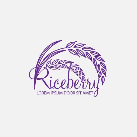 berry: Rice berry Vector