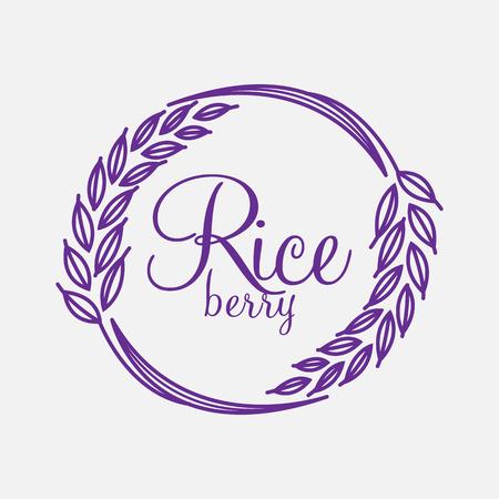 oat field: Rice berry Vector