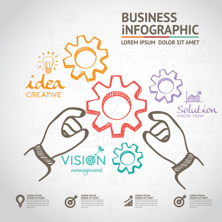 online analytical processing: Business Idea Concept infographic Illustration